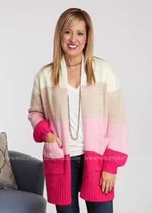 Emily Cardigan- PINK - FINAL SALE