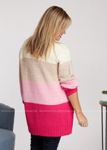 Load image into Gallery viewer, Emily Cardigan- PINK - FINAL SALE