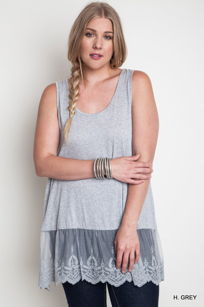 Stella Tunic/Extender - Heather Gray