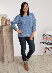 Soft Spot Sweater- Blue - FINAL SALE
