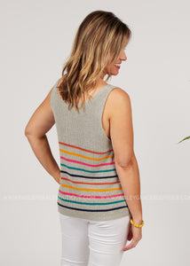 Lined Up Tank - FINAL SALE