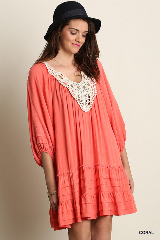 Hayden Tunic/Dress - Coral