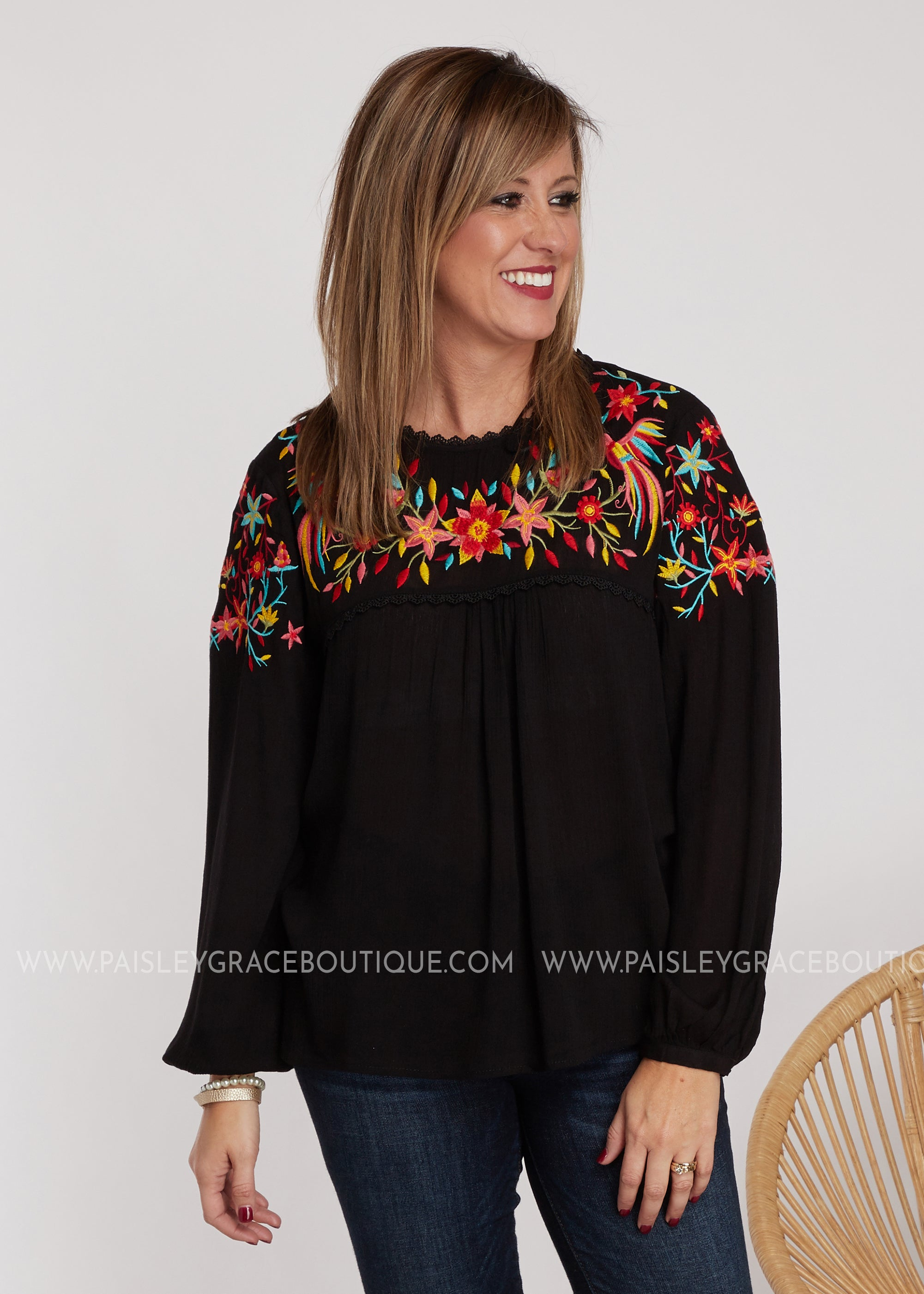 Madrid Embroidered Top