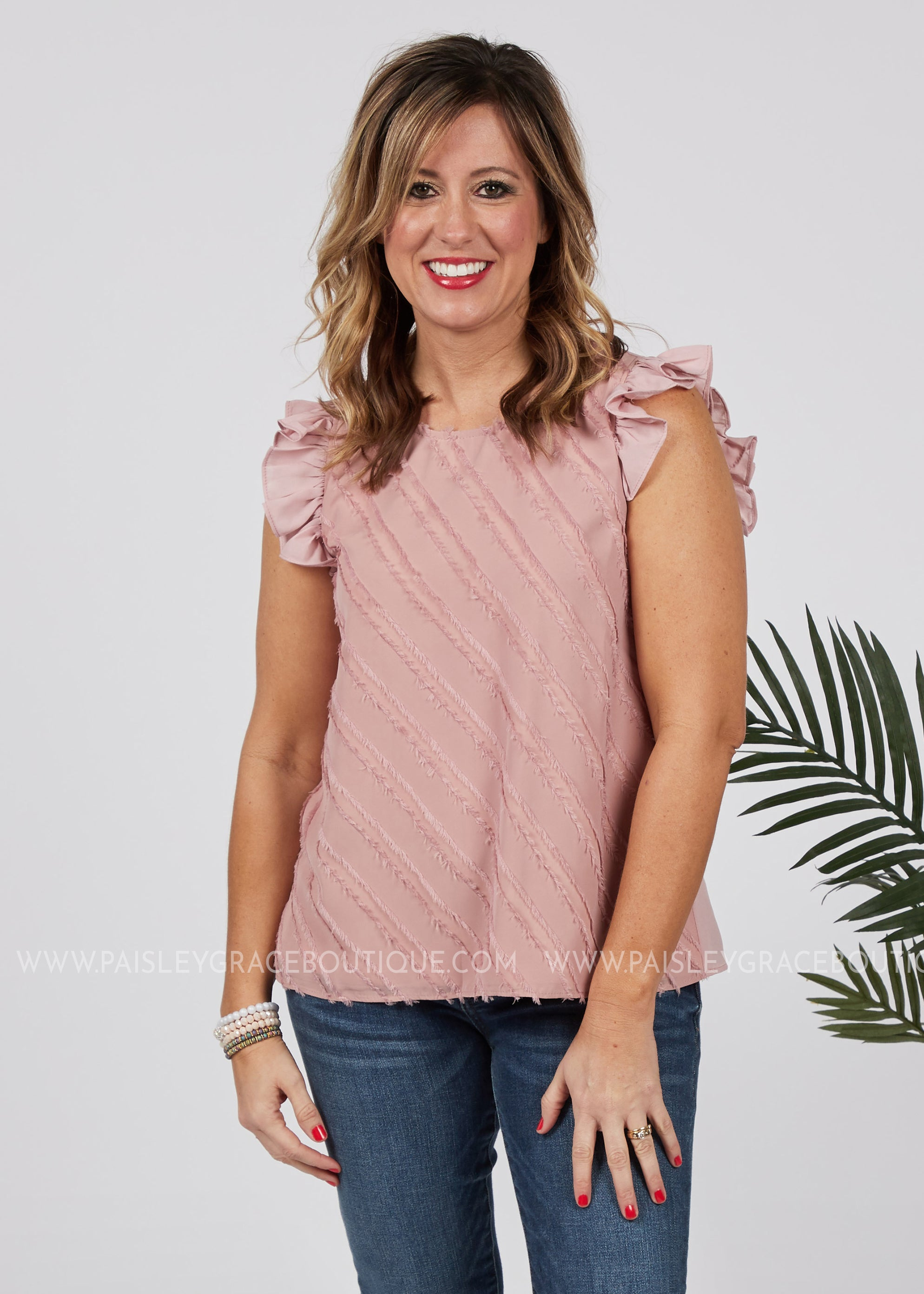 Lilly Top-DUSTY PINK - FINAL SALE