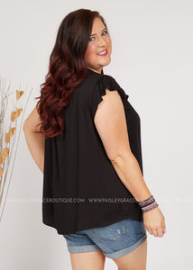 Preston Top- BLACK  - FINAL SALE