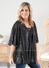 Load image into Gallery viewer, Timeless Love Sequin Kimono