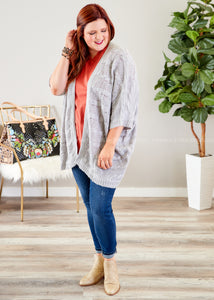 Simple Treasure Sweater Kimono