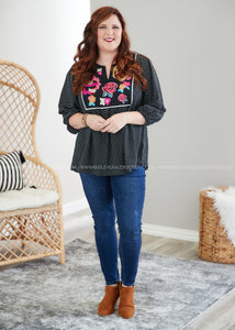 Mayleigh Embroidered Top