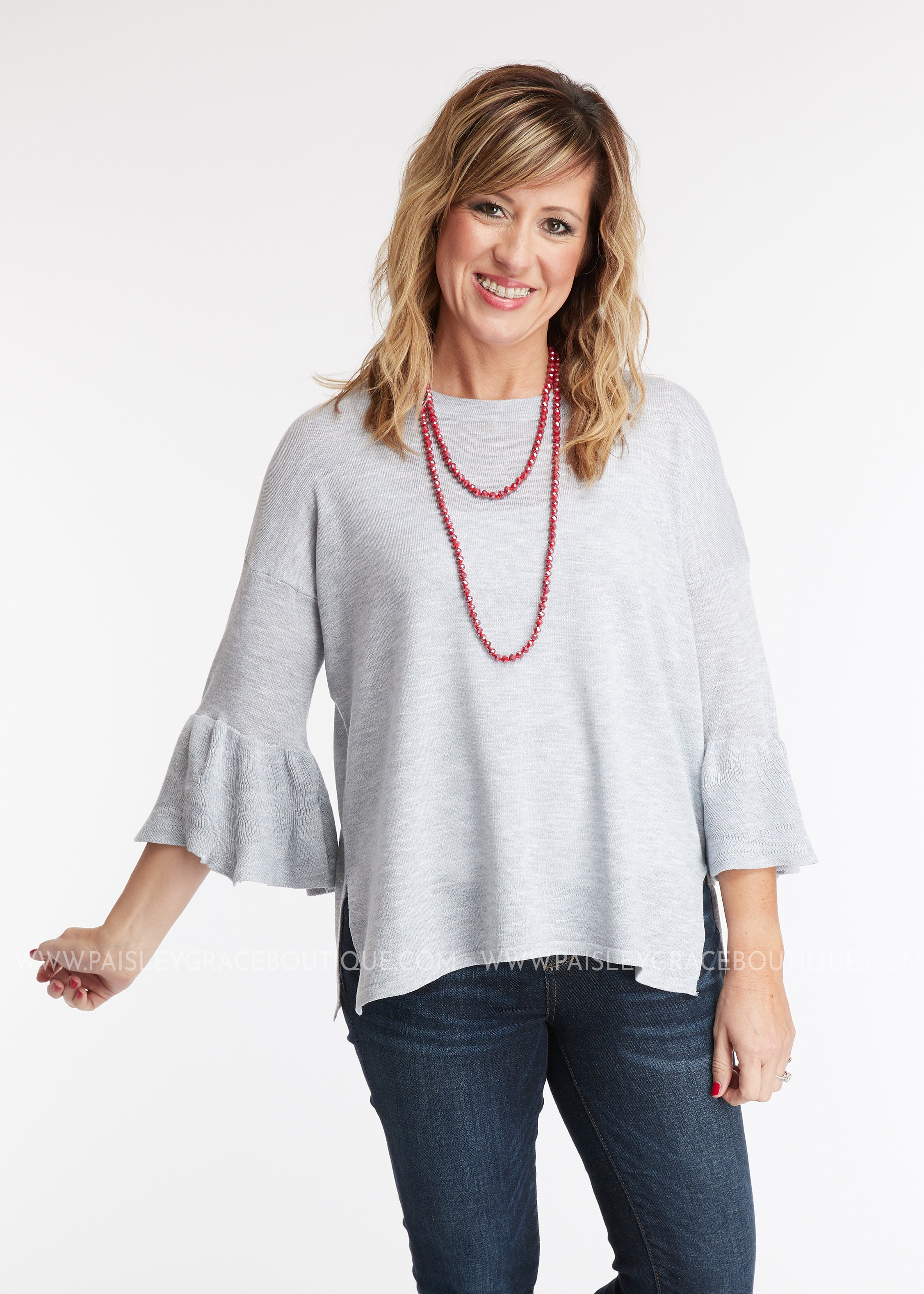 Victoria Top- GREY - FINAL SALE