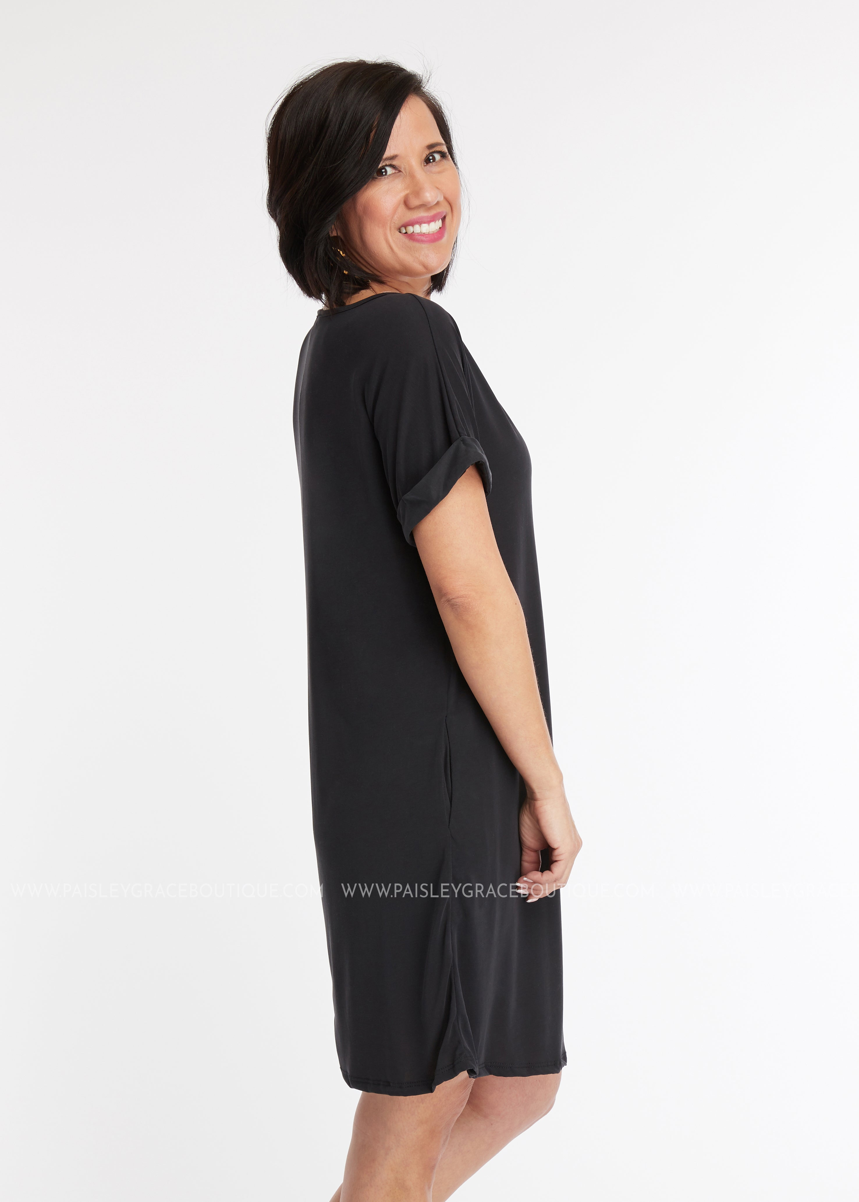 Nellie Dress- BLACK - FINAL SALE
