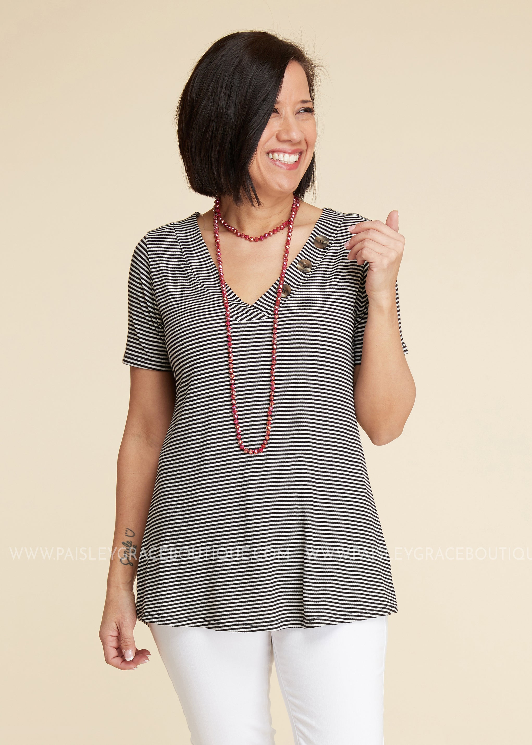 Reagan Stripe Top