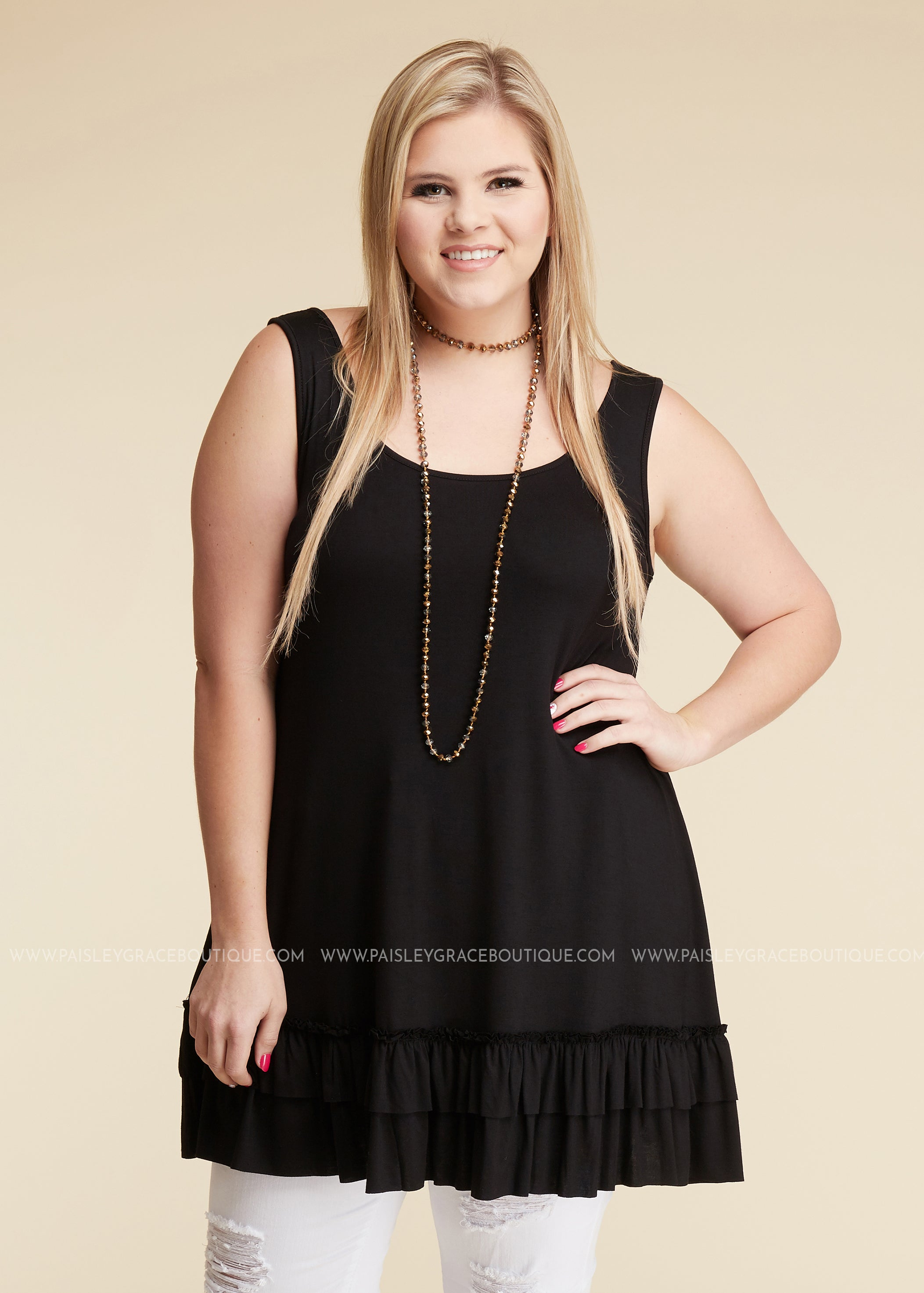Lexi Tank/Extender- BLACK - FINAL SALE