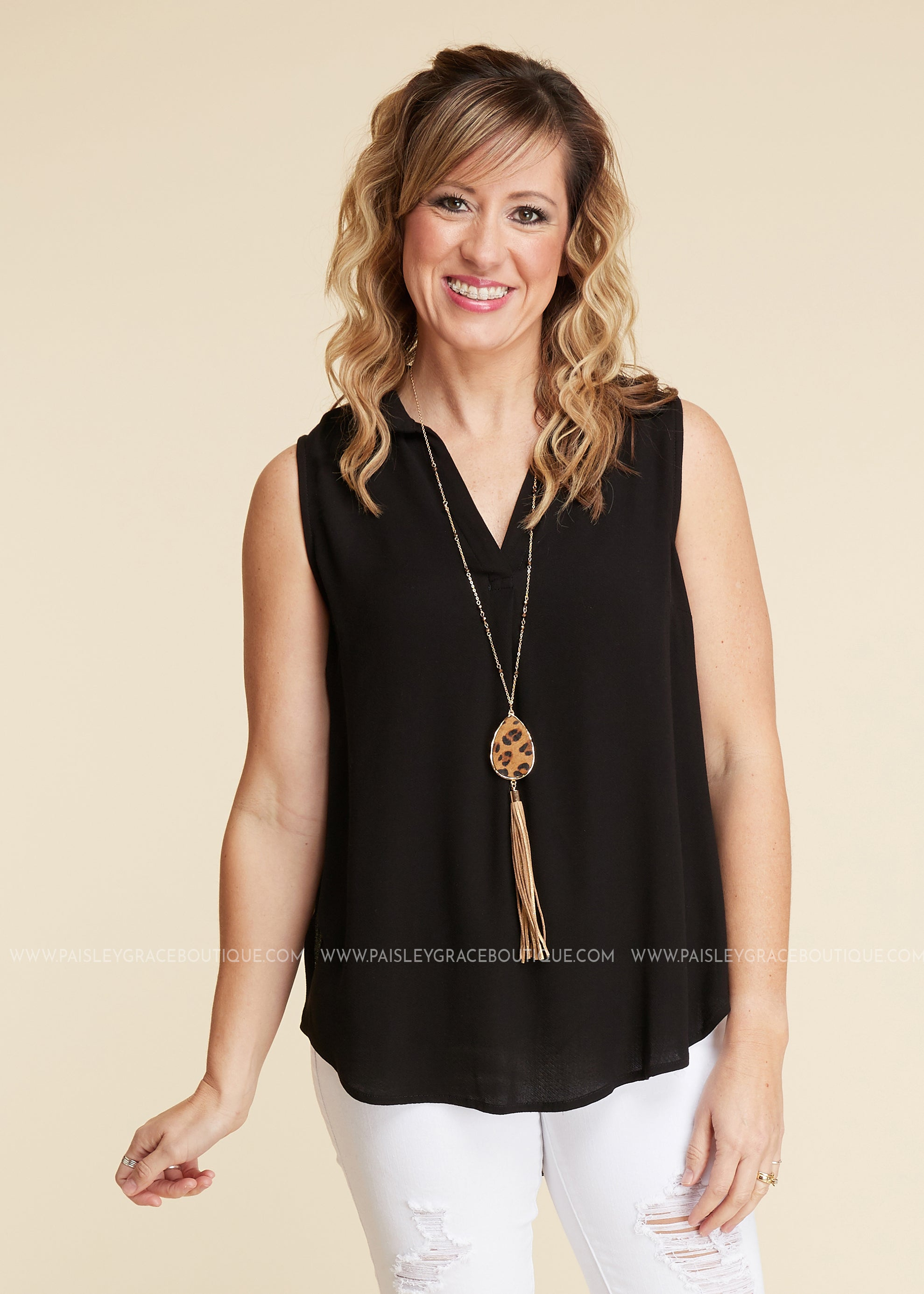 Wishful Thinking Top- BLACK