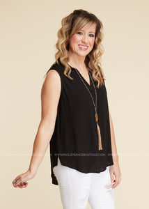 Wishful Thinking Top- BLACK - FINAL SALE