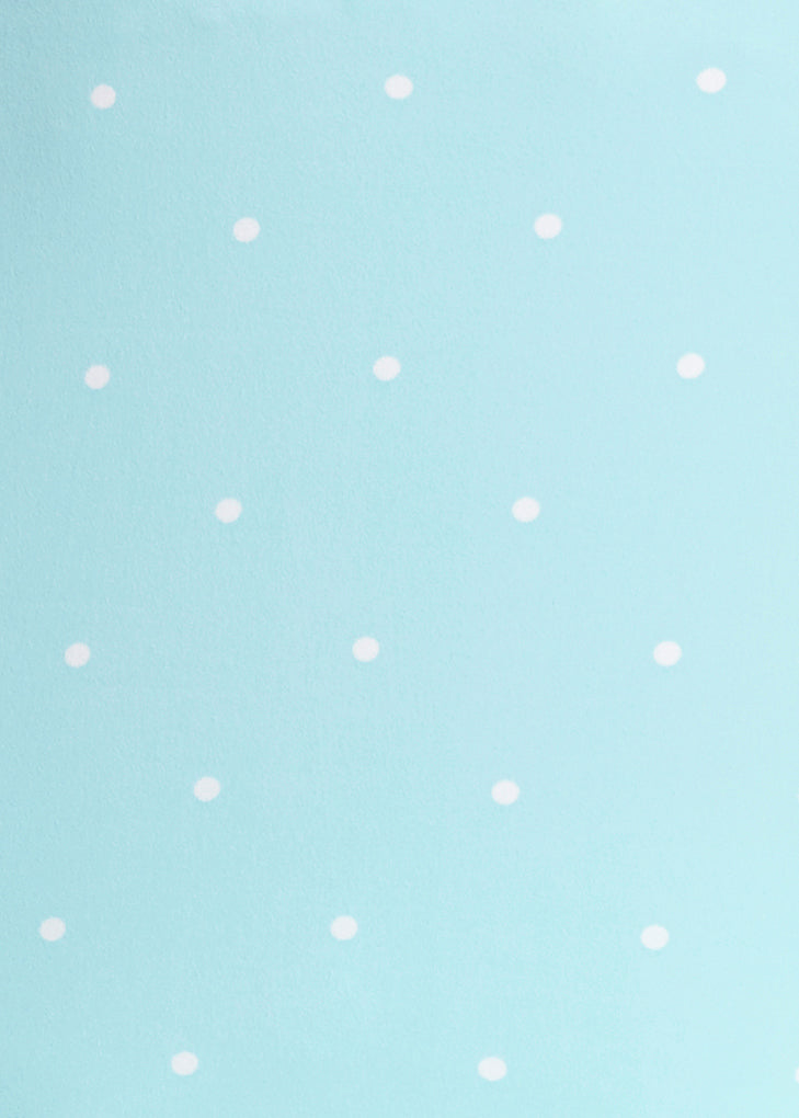 Kennedy Polka Dot Top- SKY BLUE