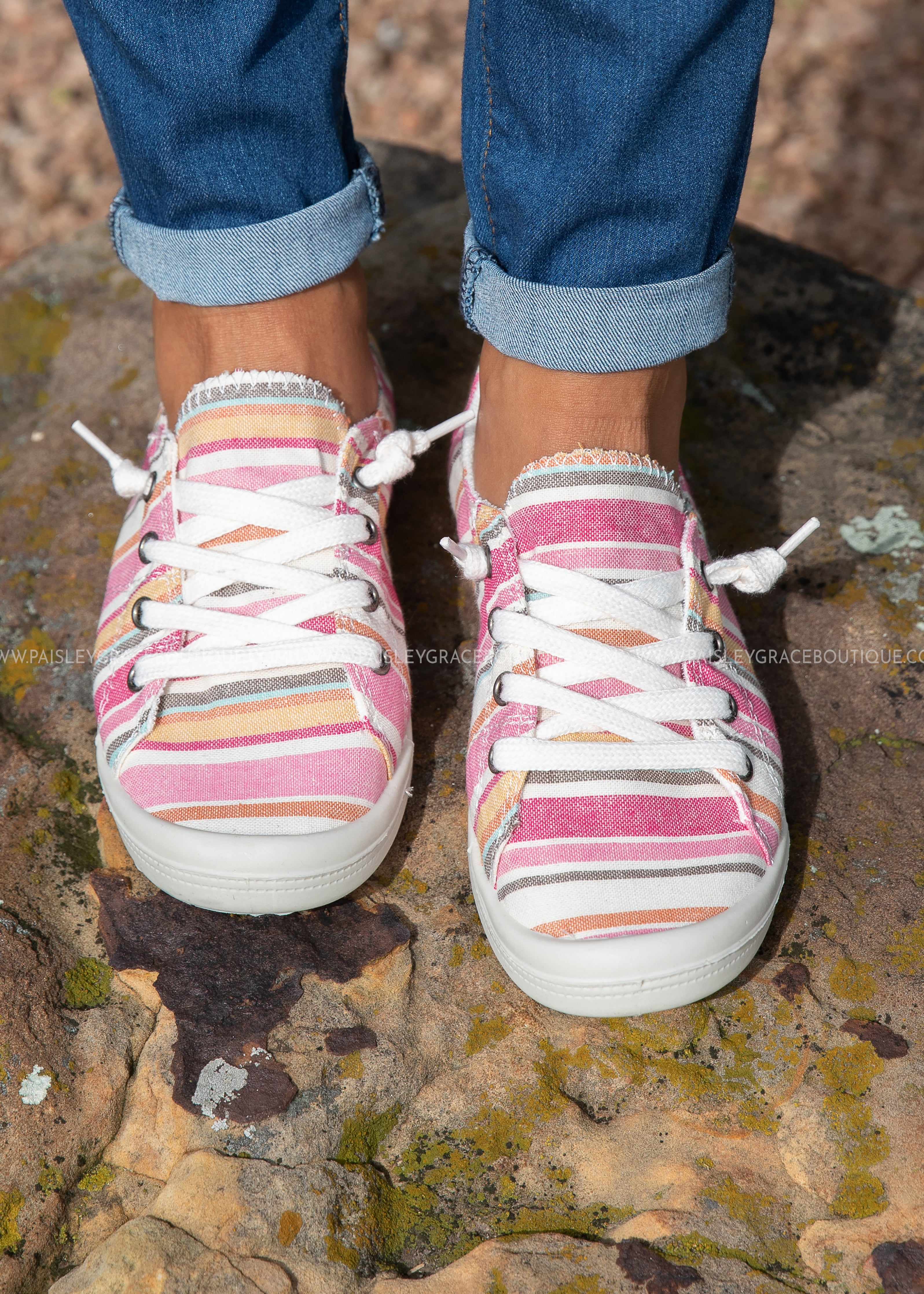 Comfy Sneakers-MULTI PINK