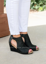 Load image into Gallery viewer, Sunburst Wedge by Corkys-BLACK-RESTOCK