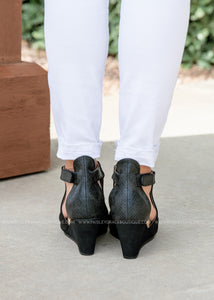 Sunburst Wedge by Corkys-BLACK-RESTOCK