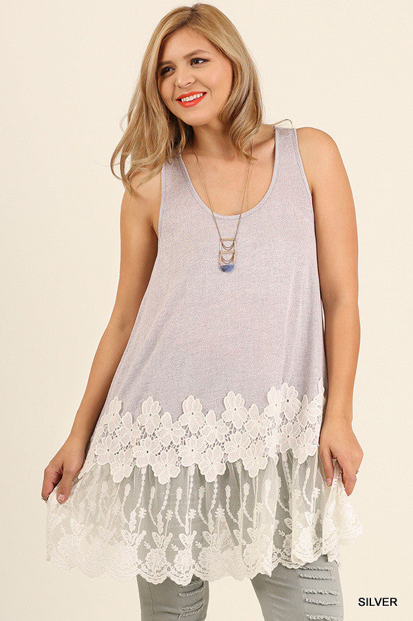 Dreamer Lace Tunic/Extender - Silver
