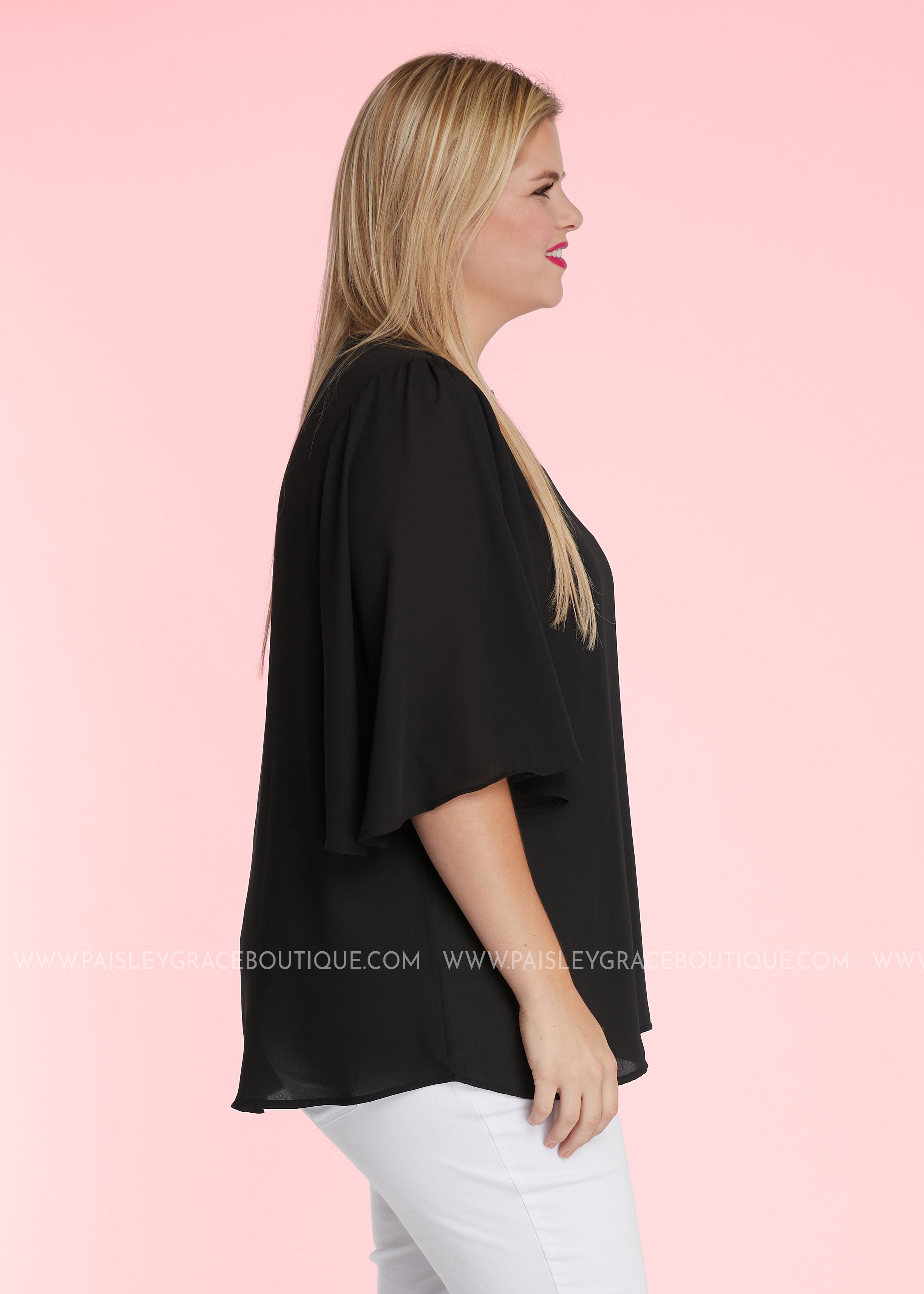 You're So Classy Top- BLACK - FINAL SALE