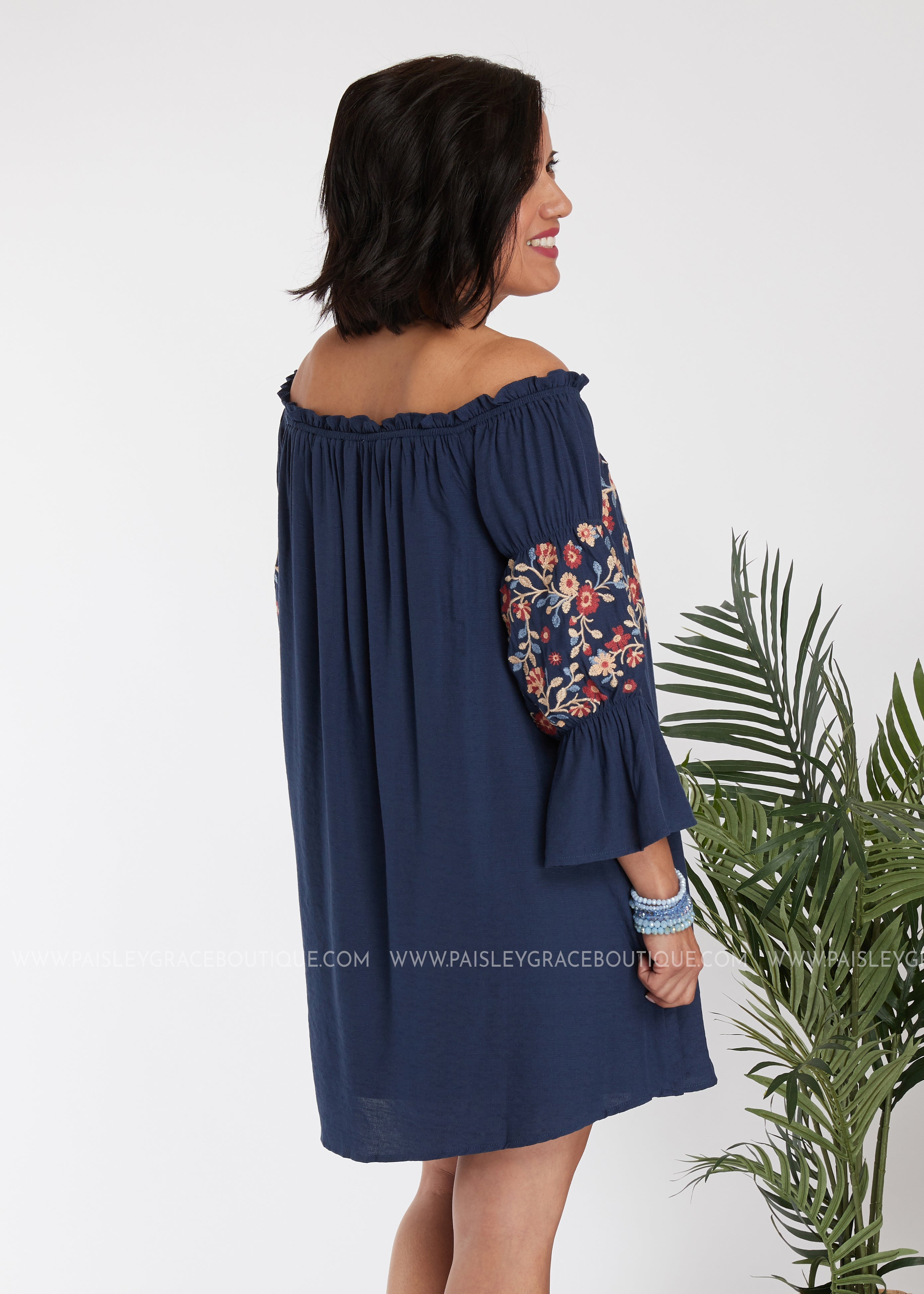 Cora Embroidered Tunic/Dress - FINAL SALE