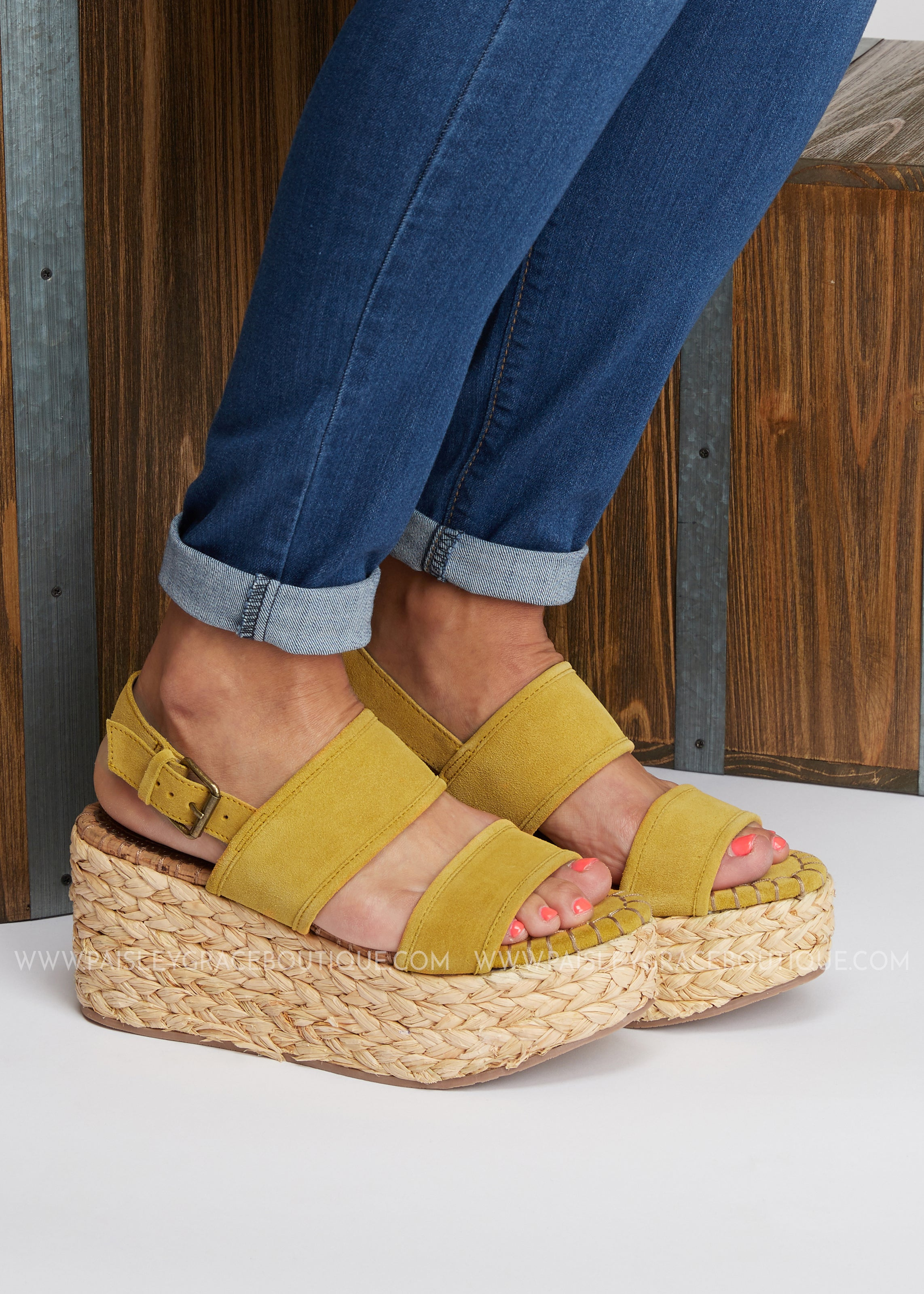 Woven Luv Espadrille Wedge