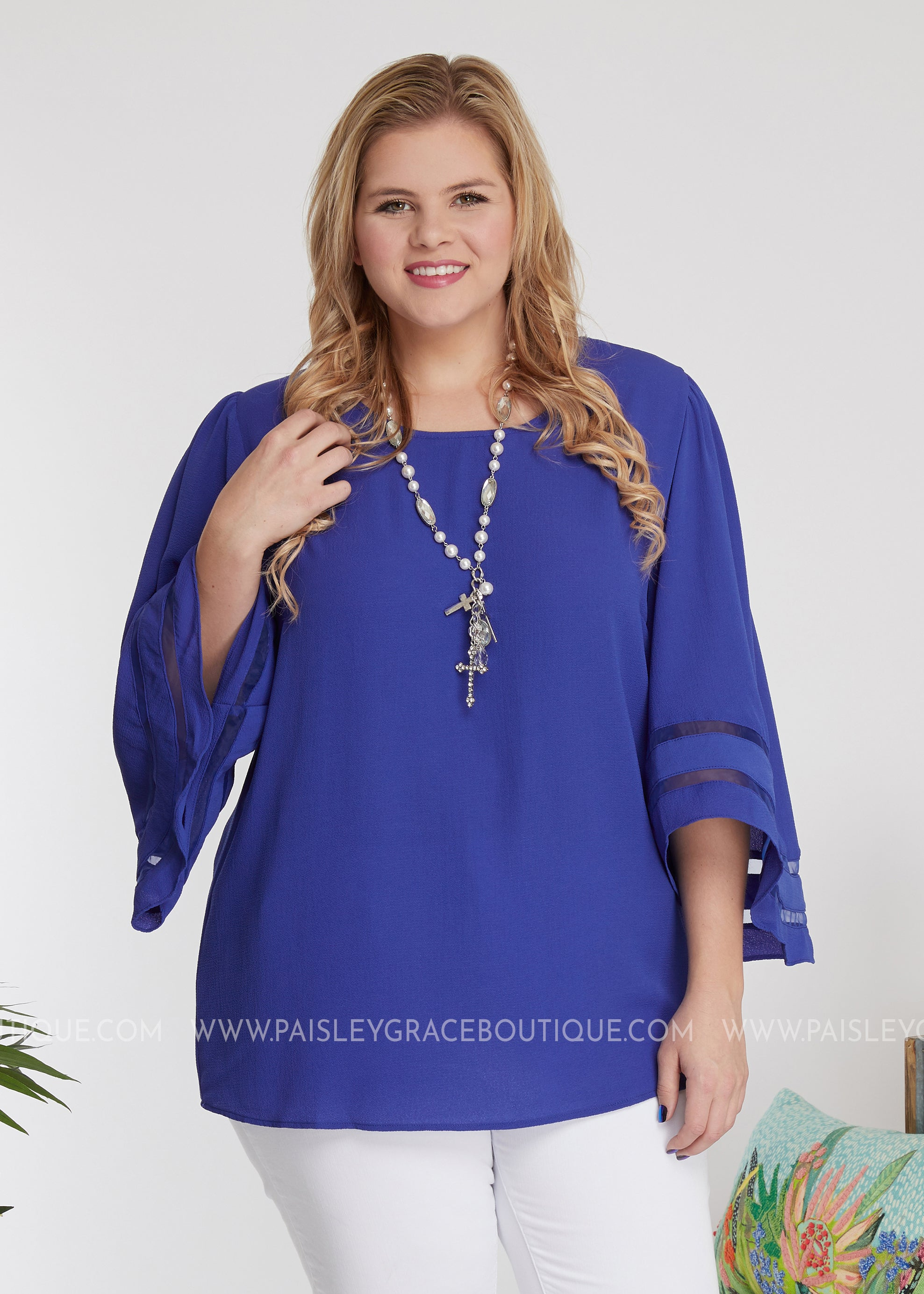 Material Girl Top- ROYAL BLUE