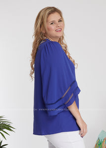 Material Girl Top- ROYAL BLUE - FINAL SALE