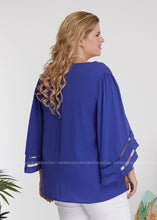 Load image into Gallery viewer, Material Girl Top- ROYAL BLUE - FINAL SALE