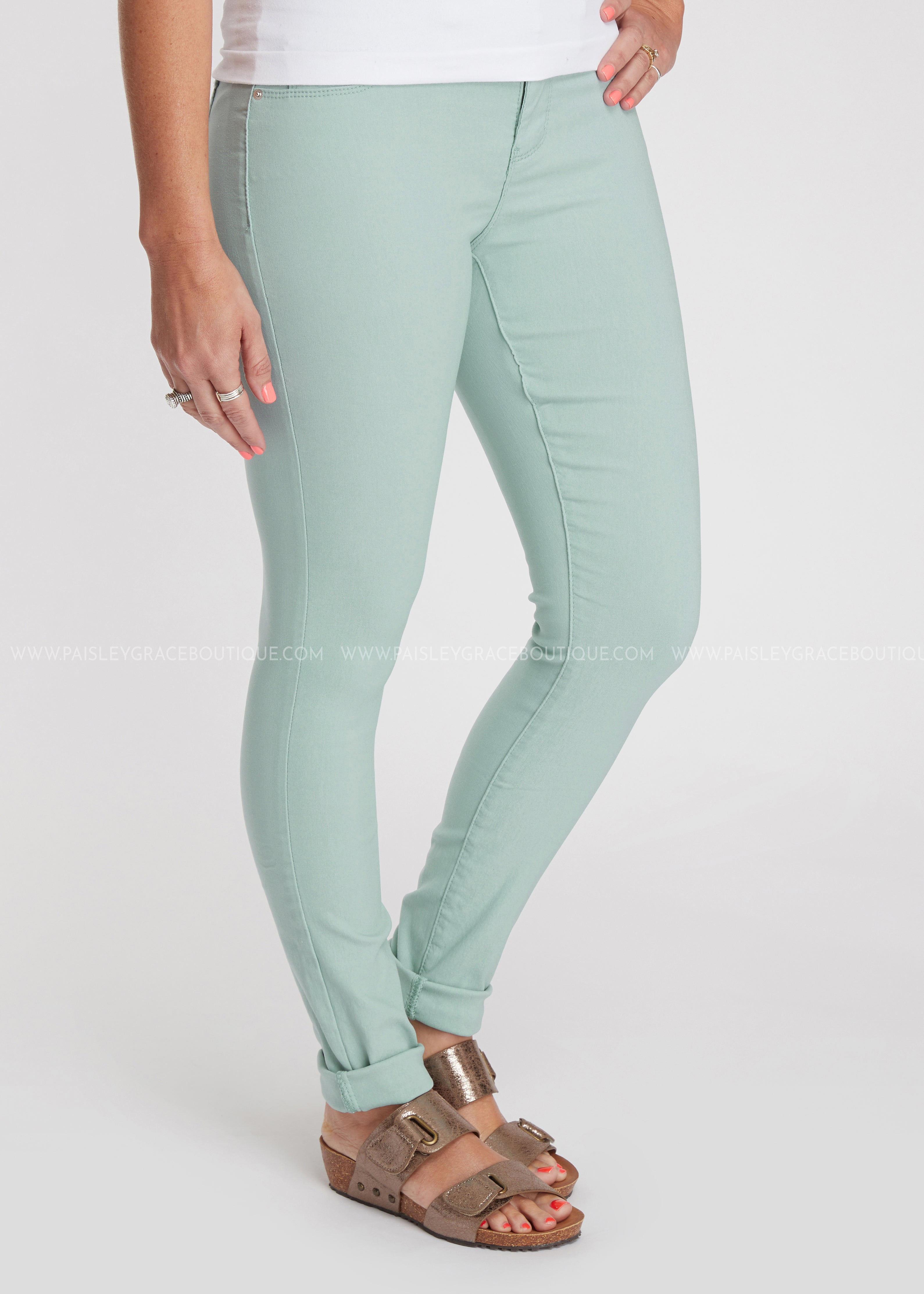 Tori Hyper Stretch Skinnies- SKYLIGHT - FINAL SALE