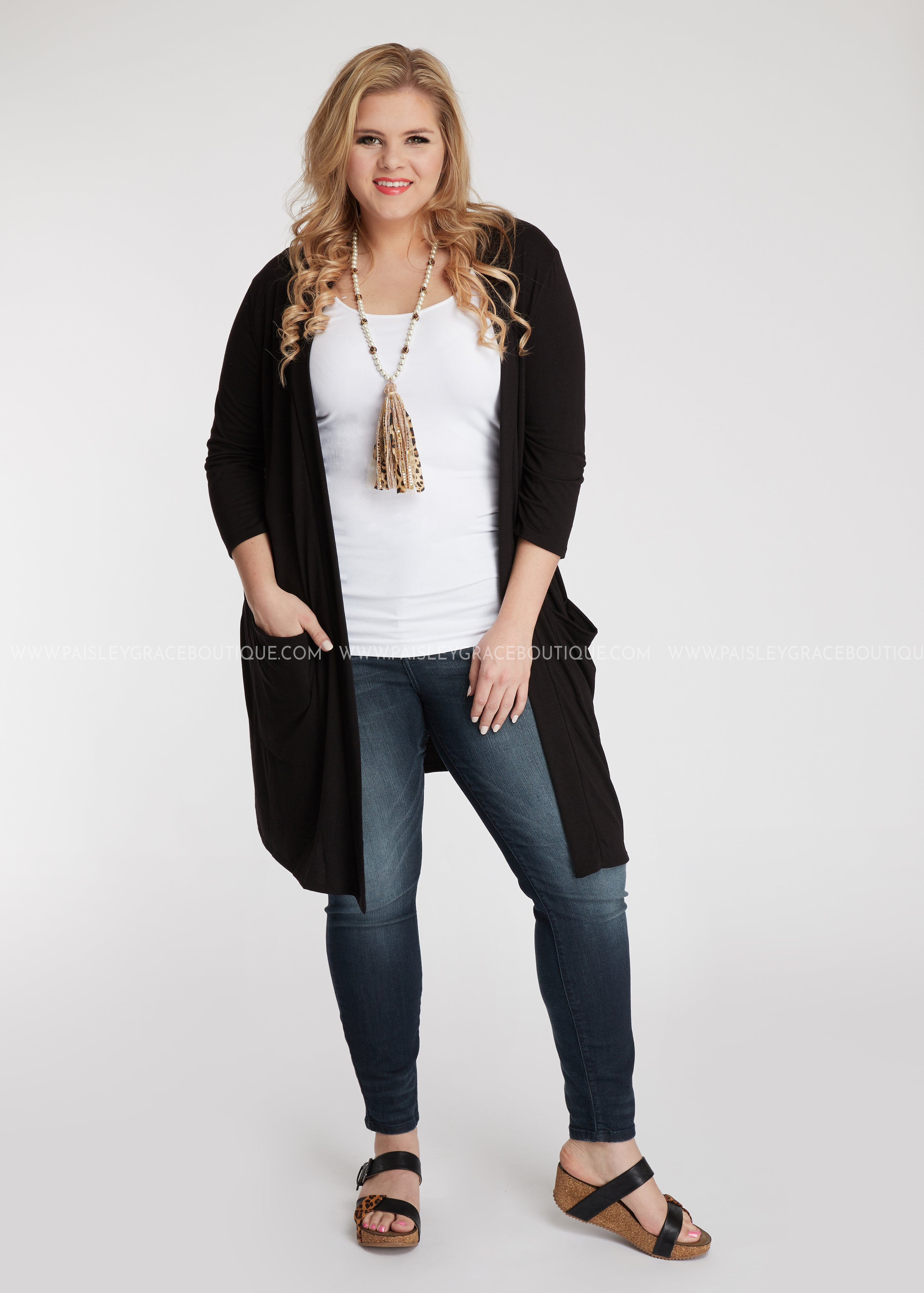 Saraya Cardigan- BLACK