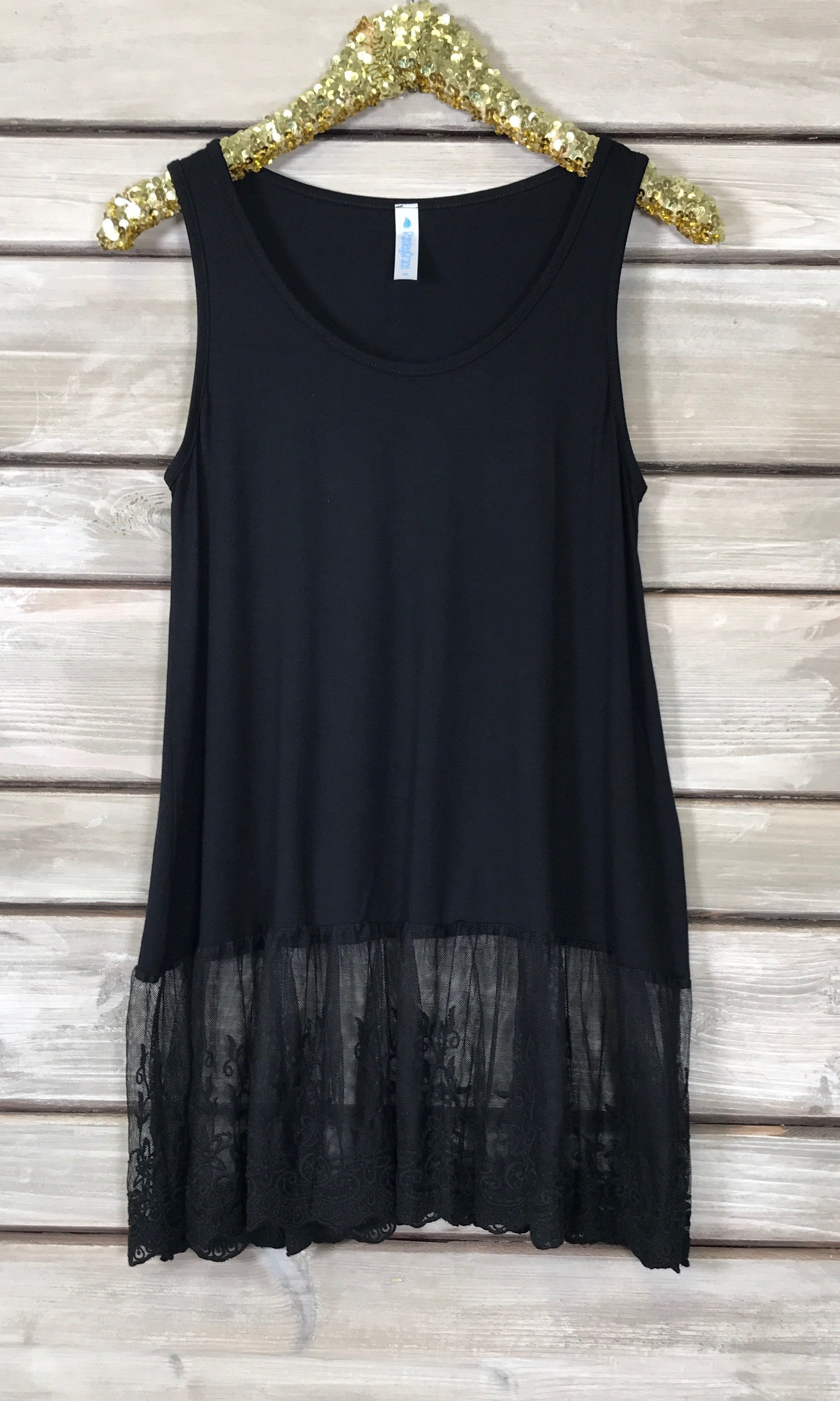 Clarissa Lace Top Extender - Black