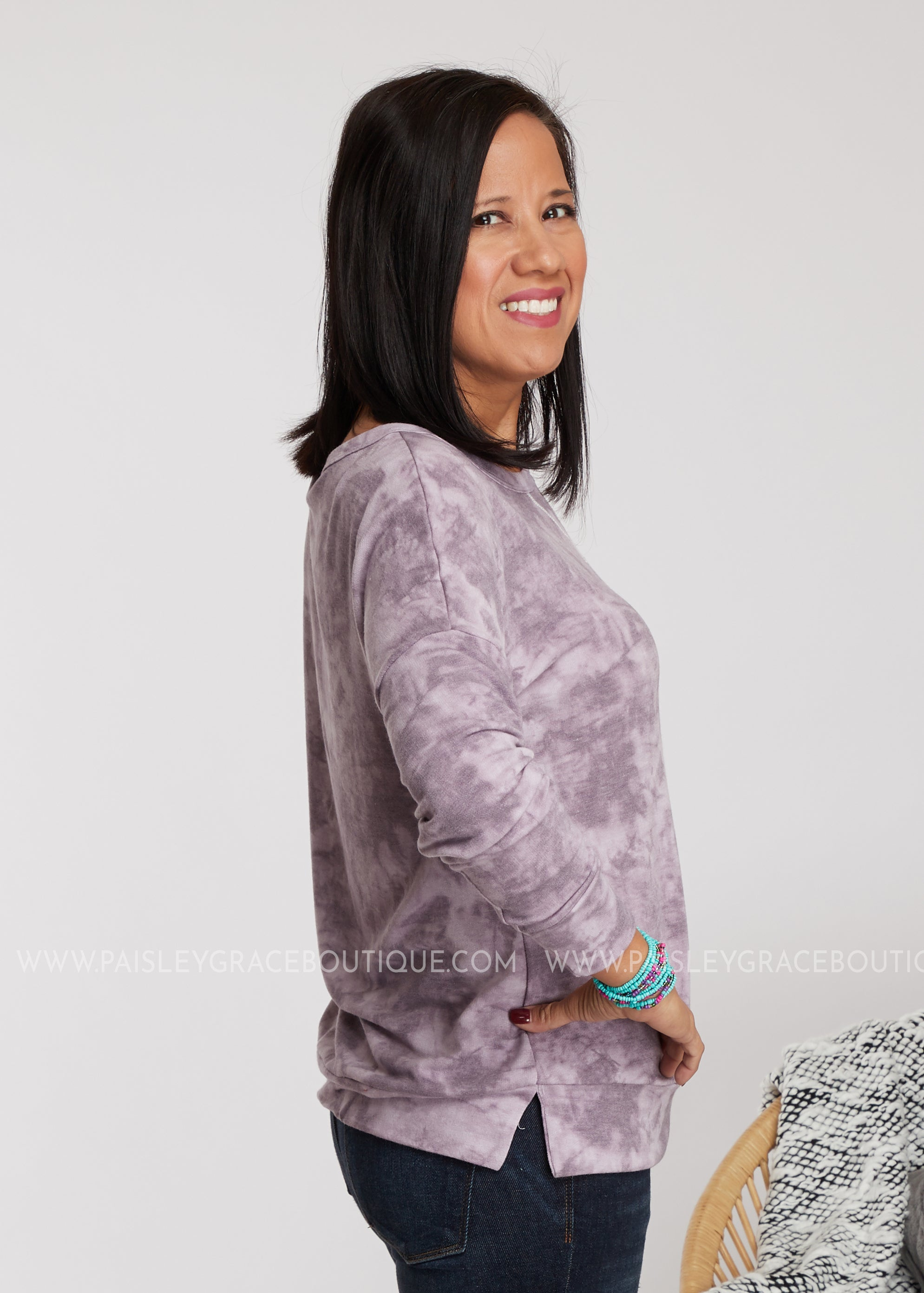 Perfect Pastime Top- Purple - FINAL SALE