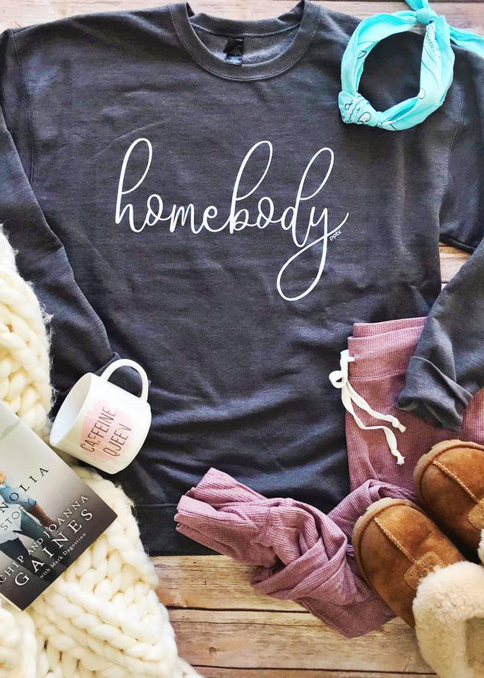 Homebody Sweatshirt- GREY- RESTOCK