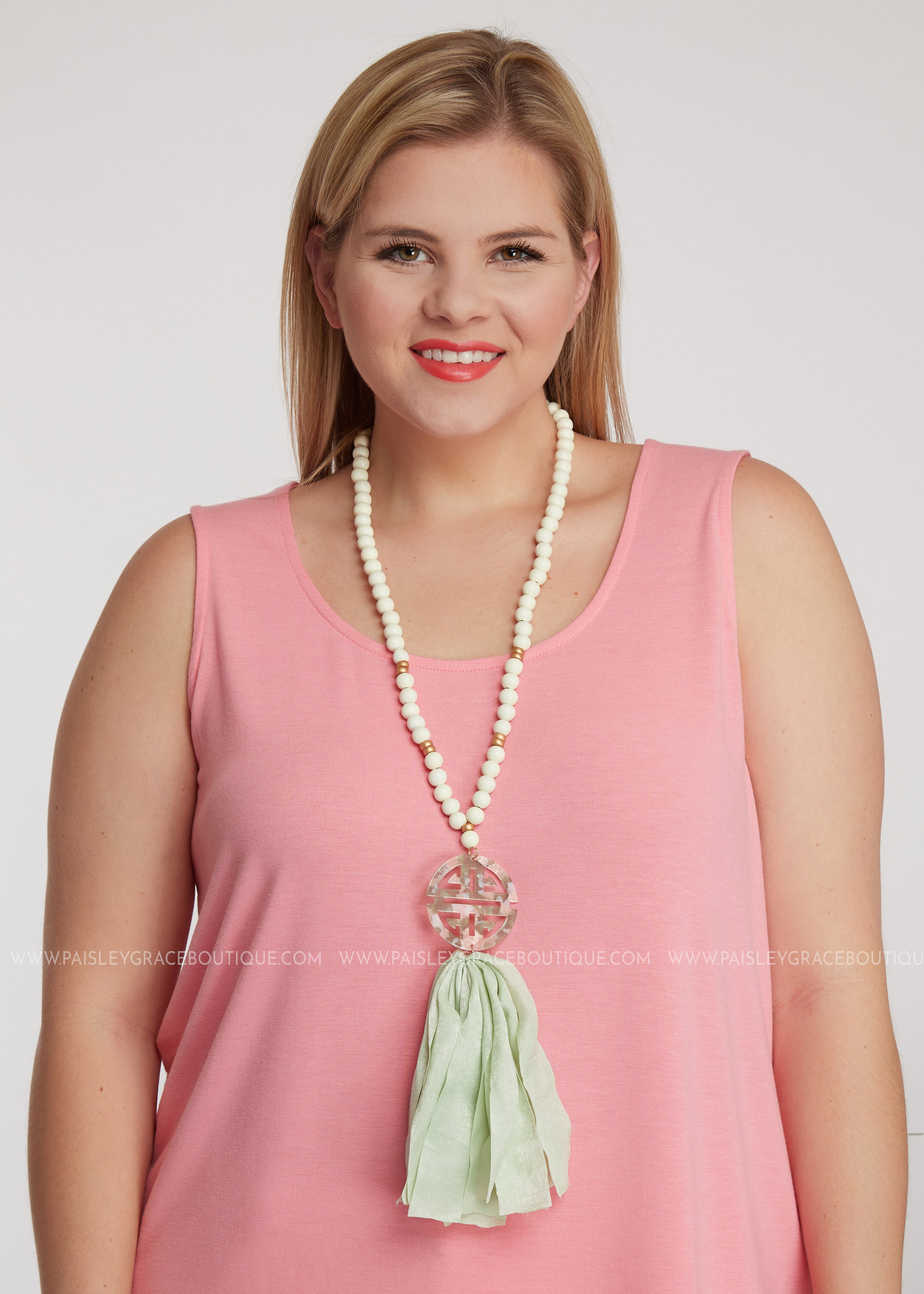 Vero Necklace- Blush Tortise - FINAL SALE