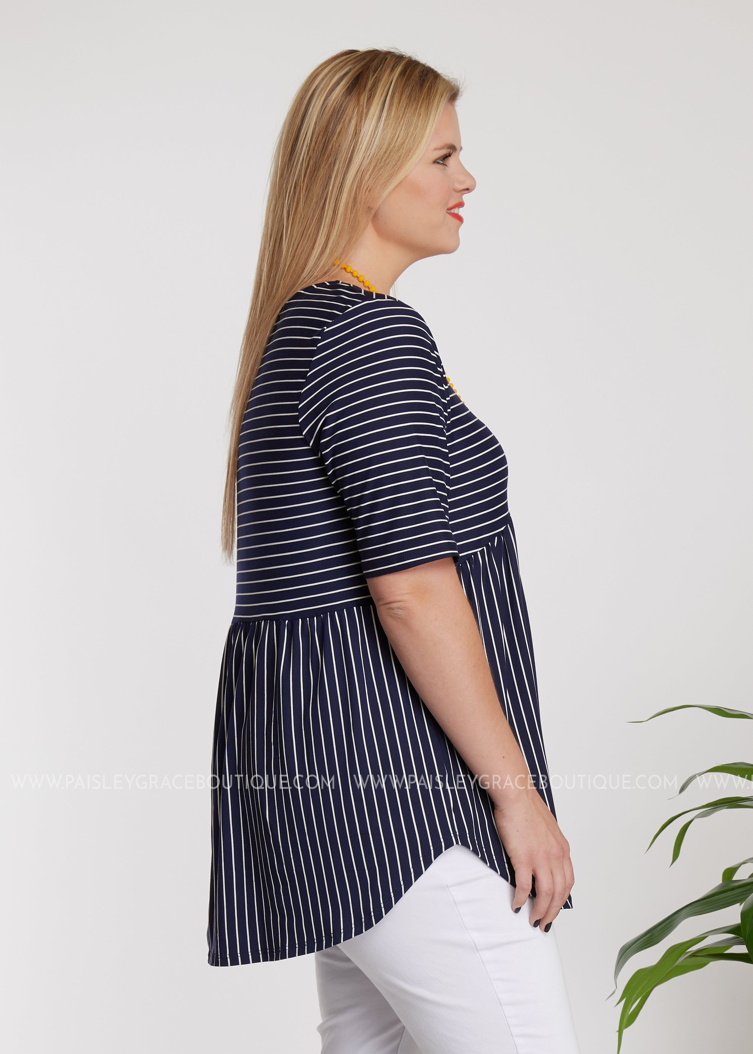 Chasing You Top- NAVY-RESTOCK
