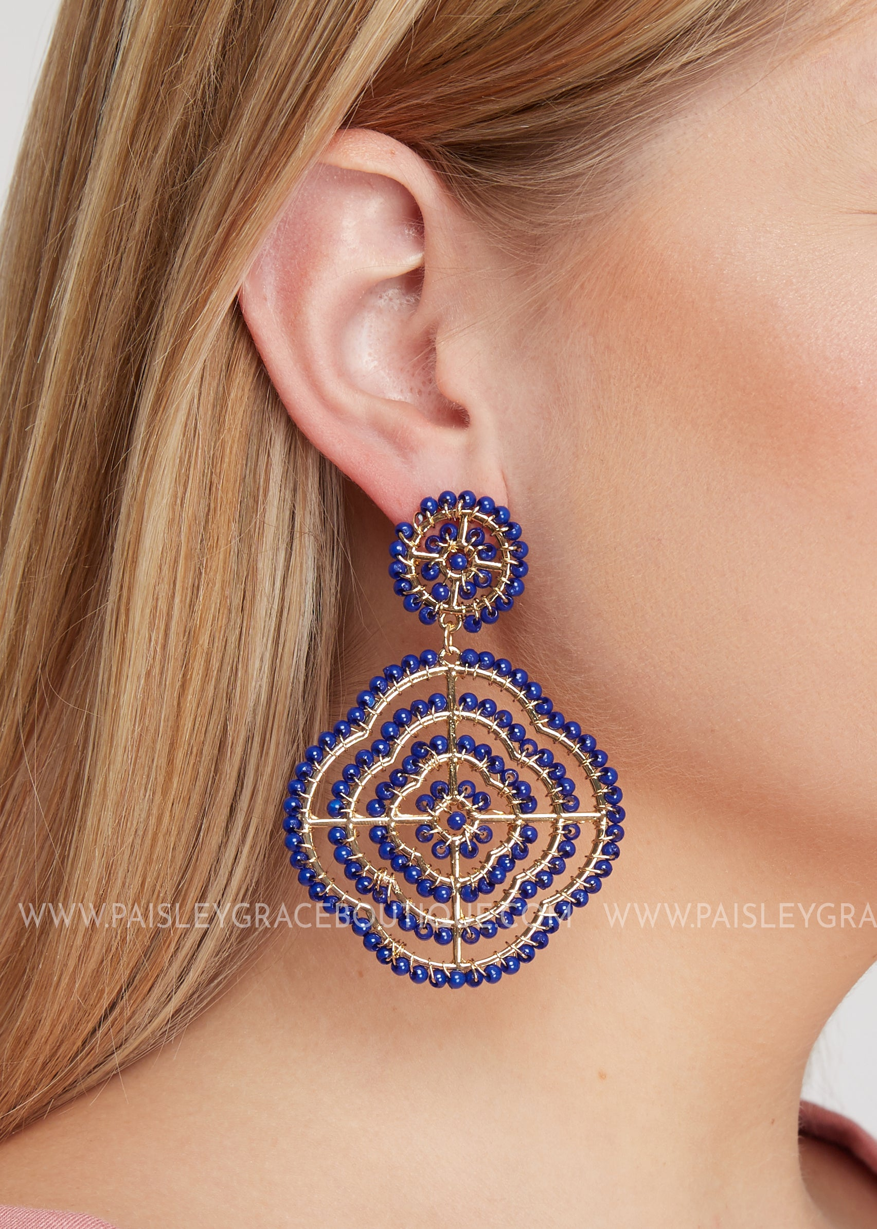 Pasadena Earrings- cobalt