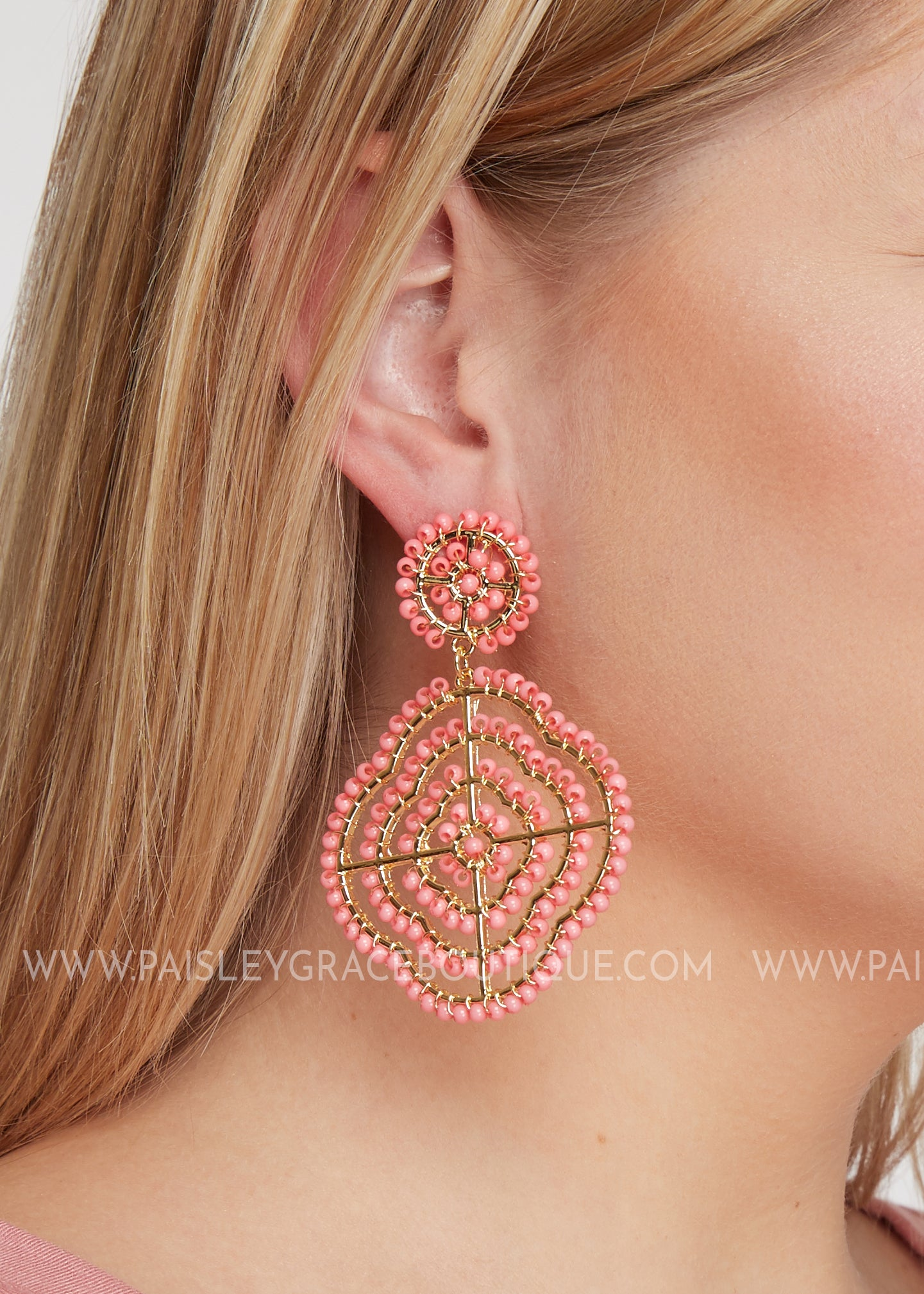 Pasadena Earrings- Blush - FINAL SALE