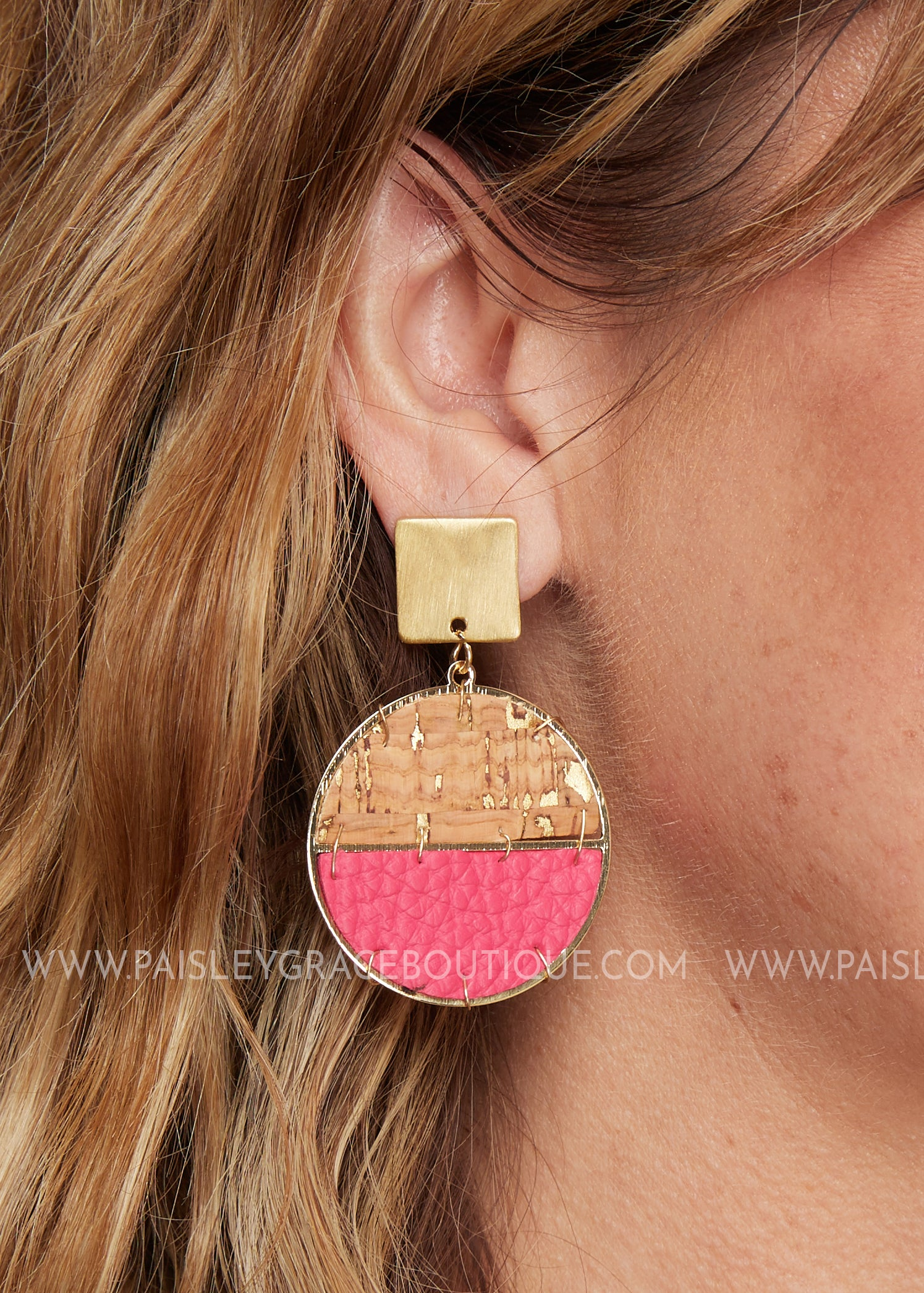 Sausalito Earrings- Hot pink