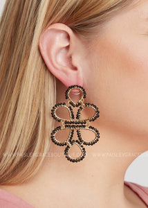 Capella Earrings- Black - FINAL SALE