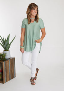 Polly Top- SAGE
