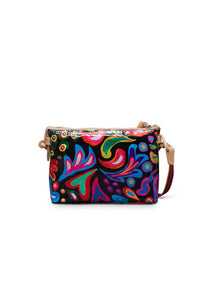 Midtown Crossbody- Sophie Black Swirly By Consuela