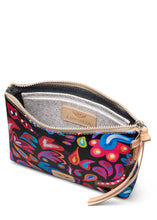 Load image into Gallery viewer, Midtown Crossbody- Sophie Black Swirly By Consuela