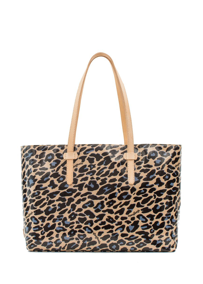 East West Tote- Blue Jag By Consuela