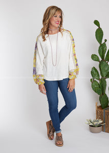 Whole New Me Top- IVORY - FINAL SALE