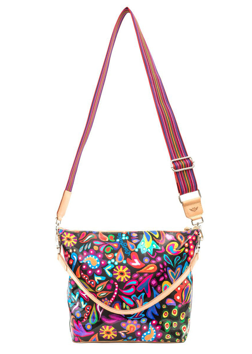 Hobo Bag- Sophie Black Swirly By Consuela