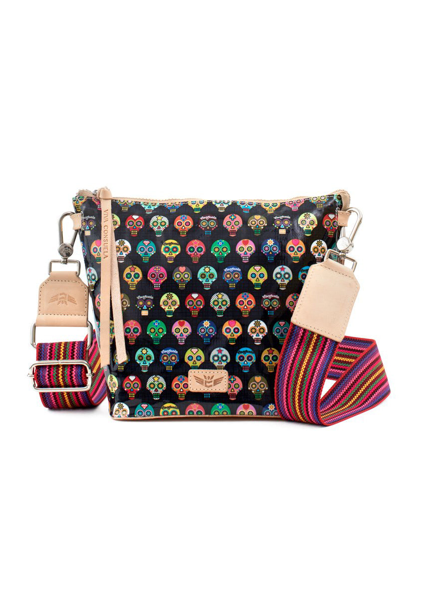 Wedge Bag- Midnight Sugar Skull By Consuela