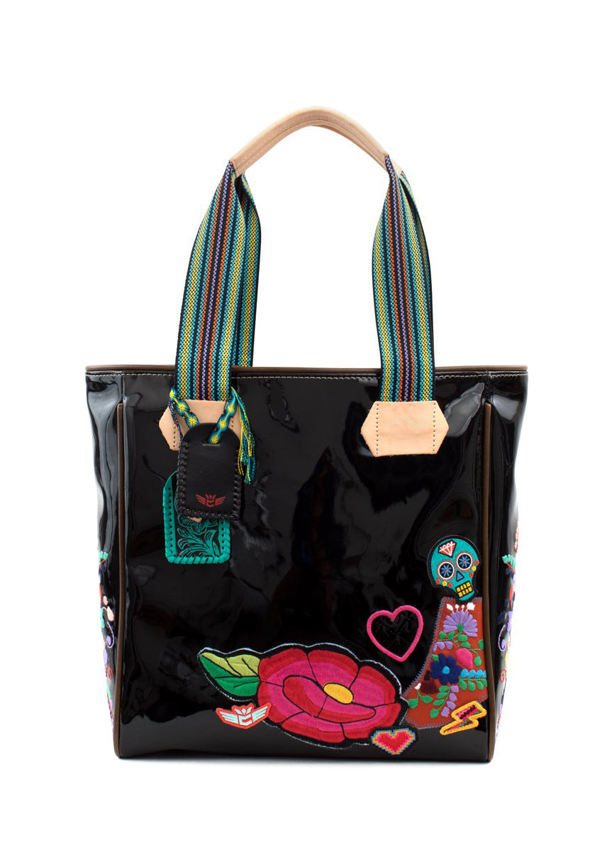 Classic Tote- Poppy Black By Consuela