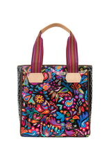 Load image into Gallery viewer, Classic Tote- Angie Black Swirly By Consuela