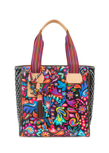 Classic Tote- Angie Black Swirly By Consuela